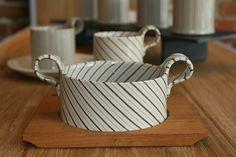 Yusuke Aida soup bowl - hand made and one of a kind #nerikomi #ceramics #handmade