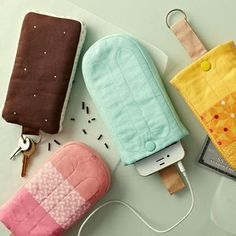 Cute phone case sewing idea! Description of what your article