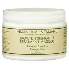 Nubian Heritage Hair Masque Grow and Strengthen Treatment Indian Hemp and Tamanu 10 Oz