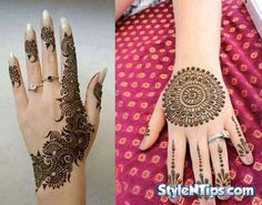 Mehndi Designs Very Beautiful : Beautiful and colorful designs of mehndi for females