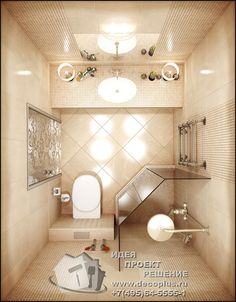 Small Bathroom With Shower, Bathroom Spa, Bathroom Interior, Modern Bathroom, Master Bathroom, Small Showers, Small Apartment Design, Small Toilet, Apartment Kitchen