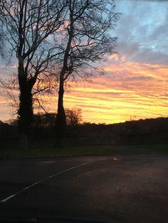Amazing sunrise view from the Mercure Bankfield Bradford Hotel!   http://www.mercurebradford.co.uk/