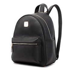 YIYINOE Women Soft Leather Lovely Backpack Cute Schoolbag Design For Teen Girls Black - Brought to you by Avarsha.com