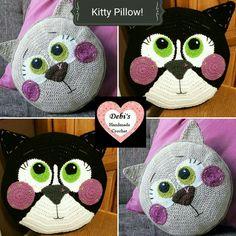 Crocheted Kitty Cat Pillow! ❤