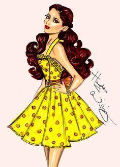 Fashion Illustration by Hayden Williams Ariana Grande Hayden Williams, Jennifer Williams, Moda Fashion, Fashion Art, Fashion Design, Dress Fashion, Fashion News, Ariana Grande Drawings, Modelos Fashion
