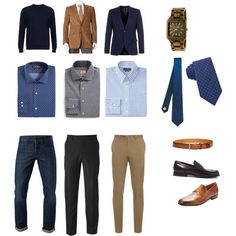 Paul's Style Board - mens business casual capsule wardrobe by emerald-studios on Polyvore featuring polyvore Mode style 3x1 Savane Lauren Ralph Lauren Brioni Gitman Bros. Ted Baker Topman Paul Smith Adolfo Burberry Wall + Water Boglioli Magnanni fashion clothing