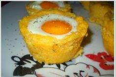Egg And Romanian Polenta (Mamaliga) Timbale Recipe, Romanian Food, Romanian Recipes, Holiday Day, Yummy Food, Tasty, Halloween Food For Party, Russian Recipes, Polenta