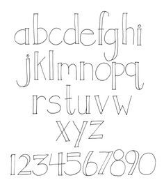 easy hand lettering - Google Search                                                                                                                                                                                 More