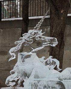 Unicorns: Unicorn Ice Sculpture | #unicorns #unicorn