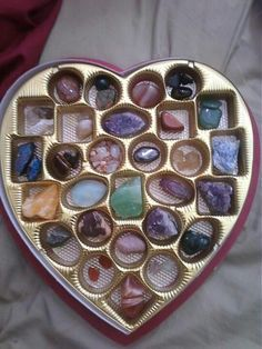 A Great Way To Store Your Stones - This is also an easy way to put them out for charging on a full moon night, and an excellent excuse to buy a box of chocolates! ;)
