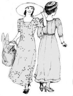 SS116 - 1909 Edwardian Dress Pattern. Sizes 6-18 all included in one envelope…