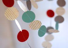 home-made paper garland