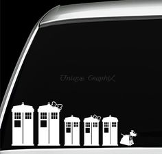 Dr Who family vinyl decal tardis stickers on Etsy, $2.00