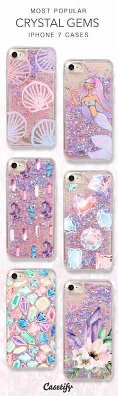 Most Popular Crystal Gem iPhone 7 Cases here > https://www.casetify.com/collections/iphone-7-glitter-cases#/