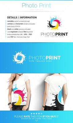 Photo Print -   Logo Design Template Vector #logotype Download it here…
