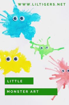 Do you like art projects? Try this friendly and art. Click through now and I show you how.  #artforkids  #monster