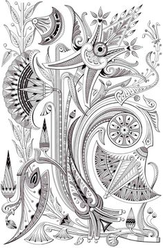 Dover Creative Haven Art Deco Egyptian Designs Coloring Page 3