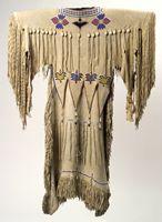 *Kiowa/Oklahoma, 1920,  Dress  This looks old Kiowa style where it was actually a one piece!