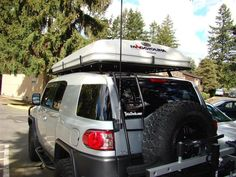Maggiolina AirLand roof top tent Truck Camping, Tent Camping, Campsite, Top Tents, Roof Top Tent, Sprinter Conversion, Tent Stakes, Rv Accessories, Toyota Fj Cruiser