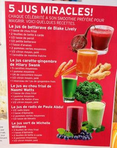 Every celebrity has their favorite smoothie to lose weight. Here are some recipes: – Health Nutrition - Detox Diet Drinks, Detox Juice Cleanse, Detox Juice Recipes, Cleanse Recipes, Detox Juices, Jus Detox, Diet Detox, Stomach Cleanse, Healthy Detox