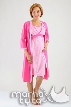 db99307824072 Daria SET nightie & hospital robe Breastfeeding clothes Pregnancy gown  Nursing gown Breastfeeding gown Delivery robe Maternity clothes