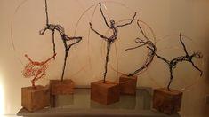 Paul Joyner Sculpture Studio wire sculptures, ballet dancers