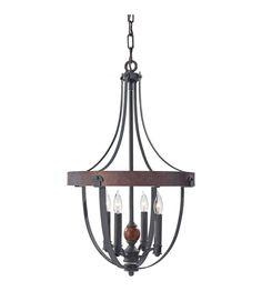 Feiss F2798/4AF/CBA Alston 4 Light 16 inch Antique Forged Iron, Charcoal Brick, Acorn Chandelier Ceiling Light #lightingnewyork #lny #lighting