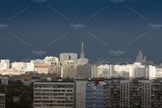 The city's skyline. Moscow. Russia. by Wonderful World on @creativemarket