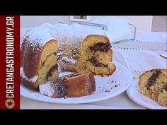 Κέικ με κανέλα και καρύδια στη μέση (VIDEO) - cretangastronomy.gr Yogurt, Cinnamon, French Toast, Sweets, Cakes, Cooking, Breakfast, Amp, Desserts