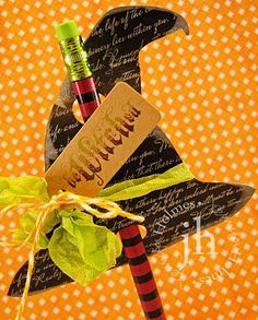 from Jennifer Holmes, love these Halloween pencil gifts!