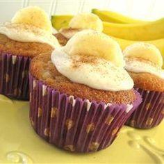 Cupcakes de Bananas y Crema