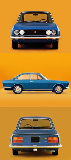 1969 Fiat 124 Coupé / BC / Italy / blue / Mario Boano at Centre Stile Fiat / / pop art How To Look Classy, Pop Art, Centre, Classic Cars, Automobile, Mario, Italy, Bike, Paintings