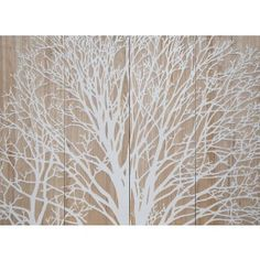 Large White Carved Tree Artwork