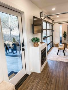 In this post, we give a tour of an cozy and intimate single shipping container home with a gorgeous patio area. Building A Container Home, Container House Plans, Container House Design, Small House Design, Tiny House Cabin, Tiny House Living, Small House Plans, Shipping Container Home Designs, Shipping Containers