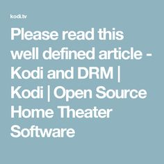 Please read this well defined article -   Kodi and DRM   Kodi   Open Source Home Theater Software
