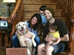 Padafamily and their new adopted dog Gus! << I personally love the name myself... ;)