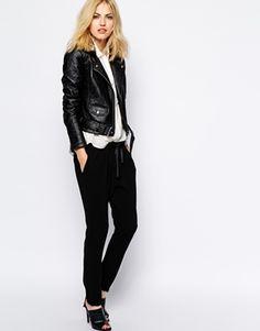 vegan leather (fake leather) biker moto jacket.   #vegan #vegetarian #jacket #leather (buy vegan leather!) #animals