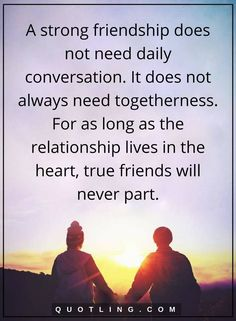 A strong friendship does not need daily Bff Quotes, Best Friend Quotes, People Quotes, Quotable Quotes, True Quotes, Quotes To Live By, Motivational Quotes, Inspirational Quotes, Fun Qoutes