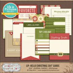 "LIP: Hello Christmas 3x4"" Journal & Filler Cards"