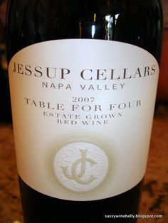 Jessup Cellars Table for Four...LOVE this wine!!!