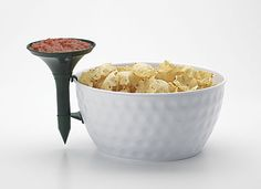 PARTY TIME! GOLF BALL CHIP AND DIP BOWL $14 | Repin by: GolfBalloftheMonth.com
