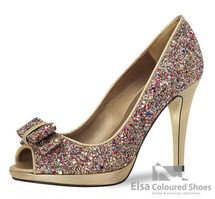 Nina Fiarucci Feestelijke glitter pump! Glitter Pumps, Peep Toe, High Heels, Shoes, Wedding, Fashion, Pumping, Valentines Day Weddings, Moda