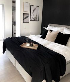 to decor bedroom decor mr and mrs decor etsy decor websites decor looks decor dublin decor 4 year old decor dresser Room Ideas Bedroom, Home Decor Bedroom, Black Bedroom Decor, Dream Rooms, Dream Bedroom, Bedroom Romantic, Black White Bedrooms, Black White Bedding, Dark Bedding