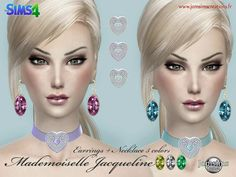 JomsimsCreations : Mademoiselle Jacqueline Earrings & Necklace.