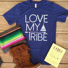 Introducing one of our brand new MUST HAVE tees for fall, LOVE MY TRIBE!!! Find your tribe & love them hard. Rock this tee & let'em know (such a fun tee to layer too!!) Now available for immediate ship! #atxmafia #onceyoureinyourein