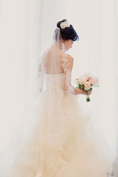 Lovely Vera Wang Bride -- See the wedding on #smp here - http://www.StyleMePretty.com/2014/04/16/chicagos-waldorf-astoria-wedding/ KristinLaVoiePhotography