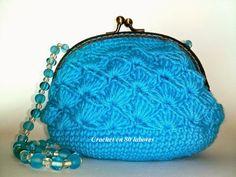 Crochet en 80 labores: Un monedero de fiesta de ganchillo azul turquesa