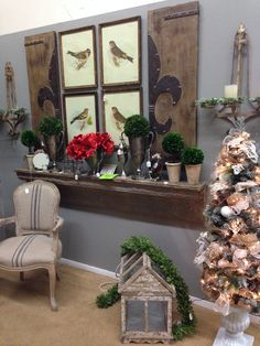 Love the idea of the decorated wood art framing the bird photos. By Designer Flower Center of Fresno at the Fresno Fall Home Improvement Show, November 8,9,10, 2014