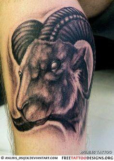 35 Aries Tattoos | Ram Tattoo Designs
