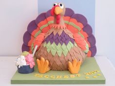 Cake Art! ~ Thanksgiving Dessert Cake ~ all edible